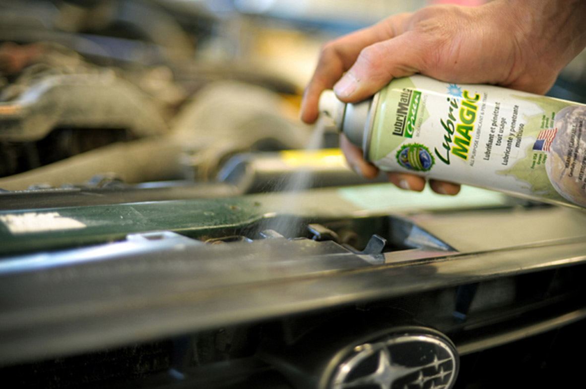 Eco-friendly lube spray